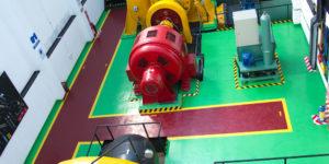 Machine floor